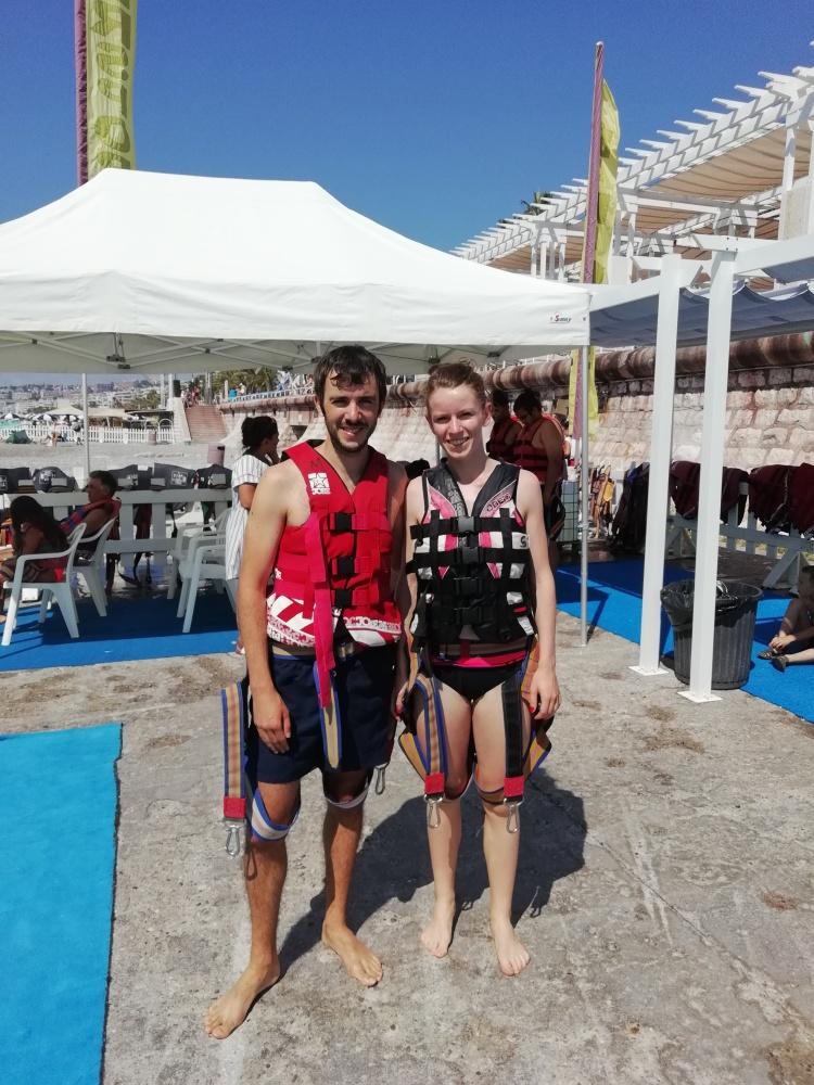 Parachute ascensionnel Aurelien et Chloe Nice