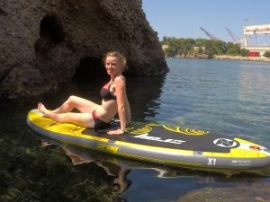 La Ciotat Chloé sur le paddle